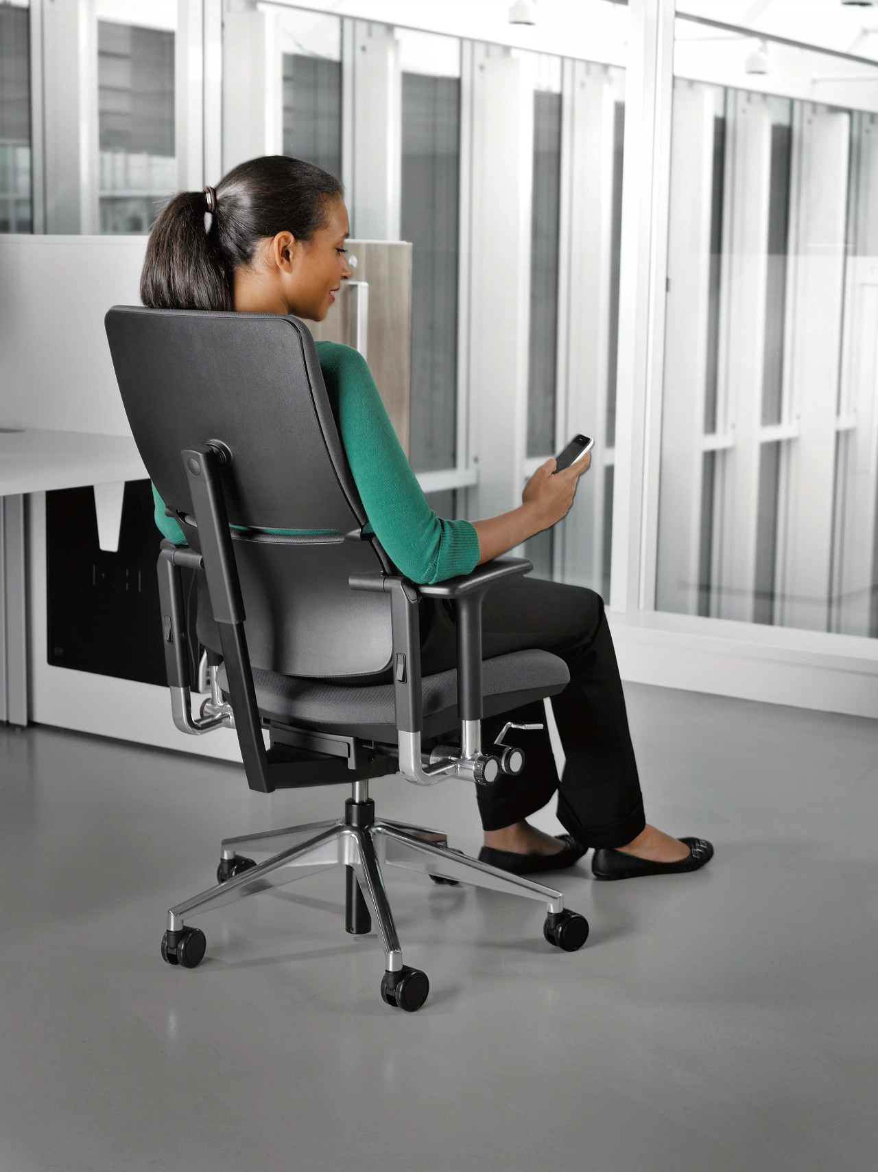 Bürostuhl Steelcase Please Gestell chrom